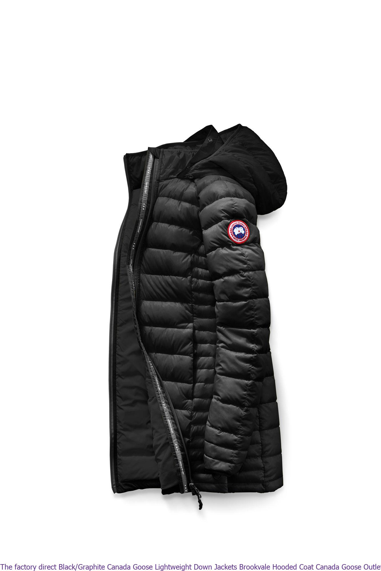 b9f5e8088 The factory direct Black/Graphite Canada Goose Lightweight Down Jackets  Brookvale Hooded Coat Canada Goose Outlet Phone Number 5502L