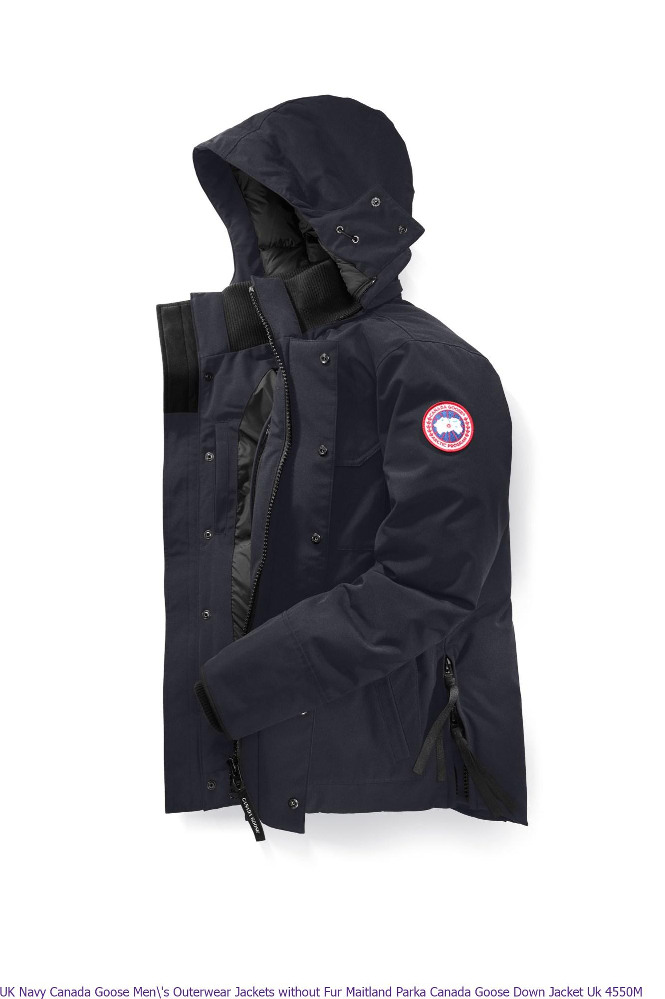 cd9a6f99639 UK Navy Canada Goose Men\'s Outerwear Jackets without Fur Maitland Parka  Canada Goose Down Jacket Uk 4550M